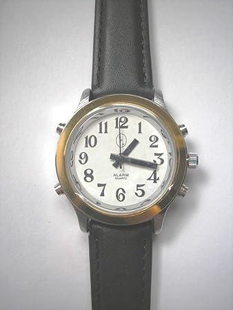 Amazon.com: De los hombres reloj altavoz Dos Tono Blanco ...