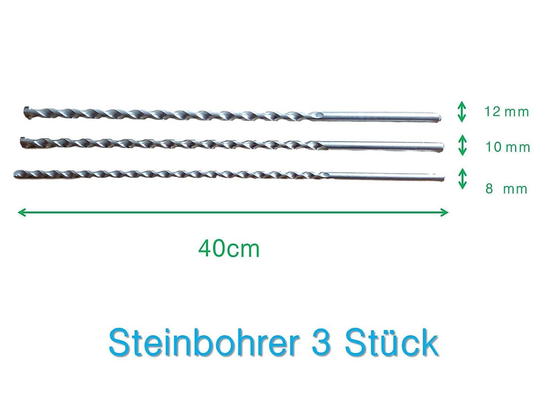 Forets /à pierre /Ø 8-10-12/mm x 40/cm pour ma/çonnerie b/éton Pierre B/éton