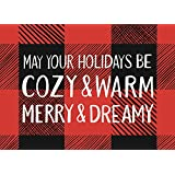 Paper Source, Plaid Cozy Merry Dreamy A6 Cards and Envelopes - 10 Pack