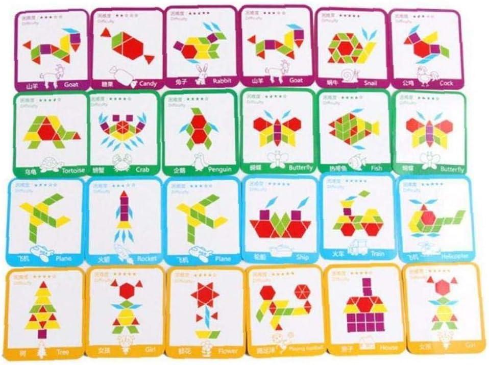 Aisoway Apprentissage de Puzzle en Bois /éducatif D/éveloppement Jeux Jouets pour Les Enfants 155 Pcs