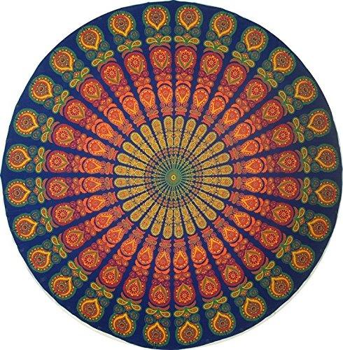 India Arts Handmade Sanganeer Peacock Mandala 72