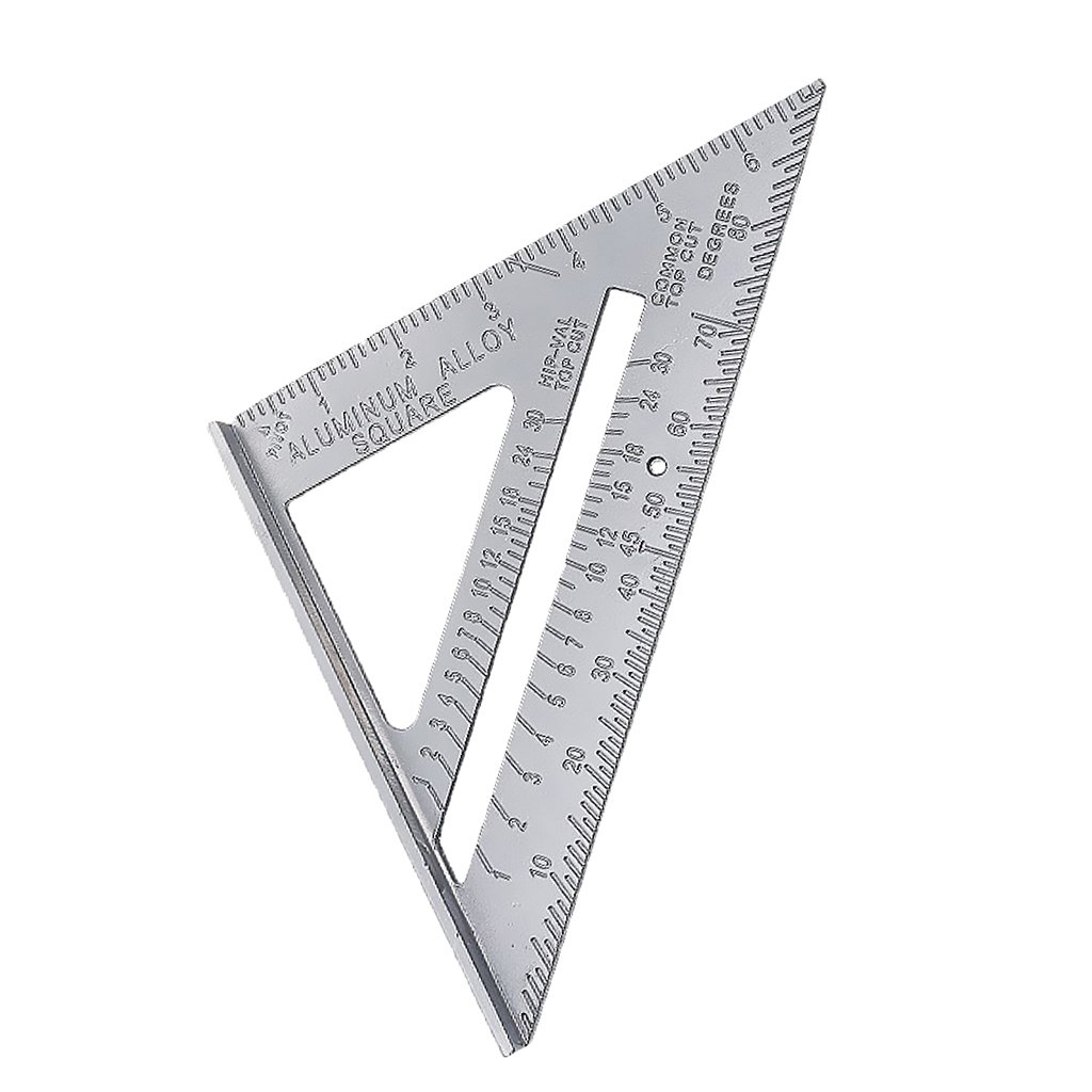 Sharplace 7'' Metric System Triangle Angle Square Speed Rafter Protractor Miter Ruler