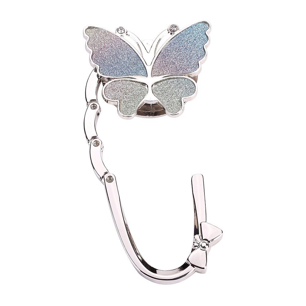 3pcs Butterfly Set Foldable Handbag Purse Hangers Table Chair Holder Hook