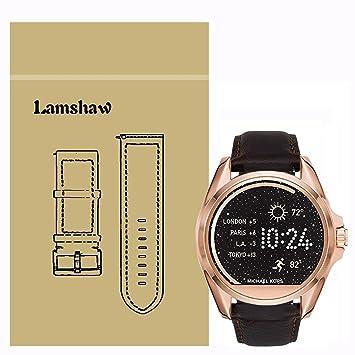 Ceston Classic Ersatz Uhrenarmband für Michael Kors Smartwatch  (Leder-Kaffee) 8a50da3745