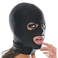 Imixcity Sexy Masque Hole Fetish Hood en Cuir PU,Jouet de Rôle Déguisement pour Adultes Soirée Fête Bondage Cosplay Costume