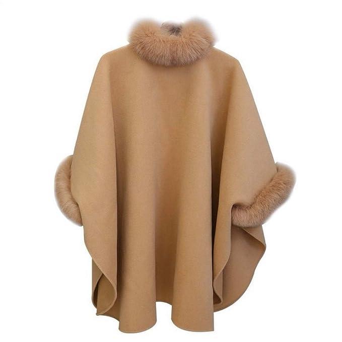 Amazon.com: Autumn Womens Wool Coat Long Woolen Coat Female Elegant Cloak Jacket Sweet Fashion Clothes: Clothing