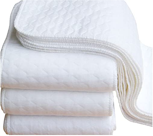 Mealeaf - Pañales Lavables para bebé, 2 Unidades, algodón ecológico, Color Blanco: Amazon.es: Hogar