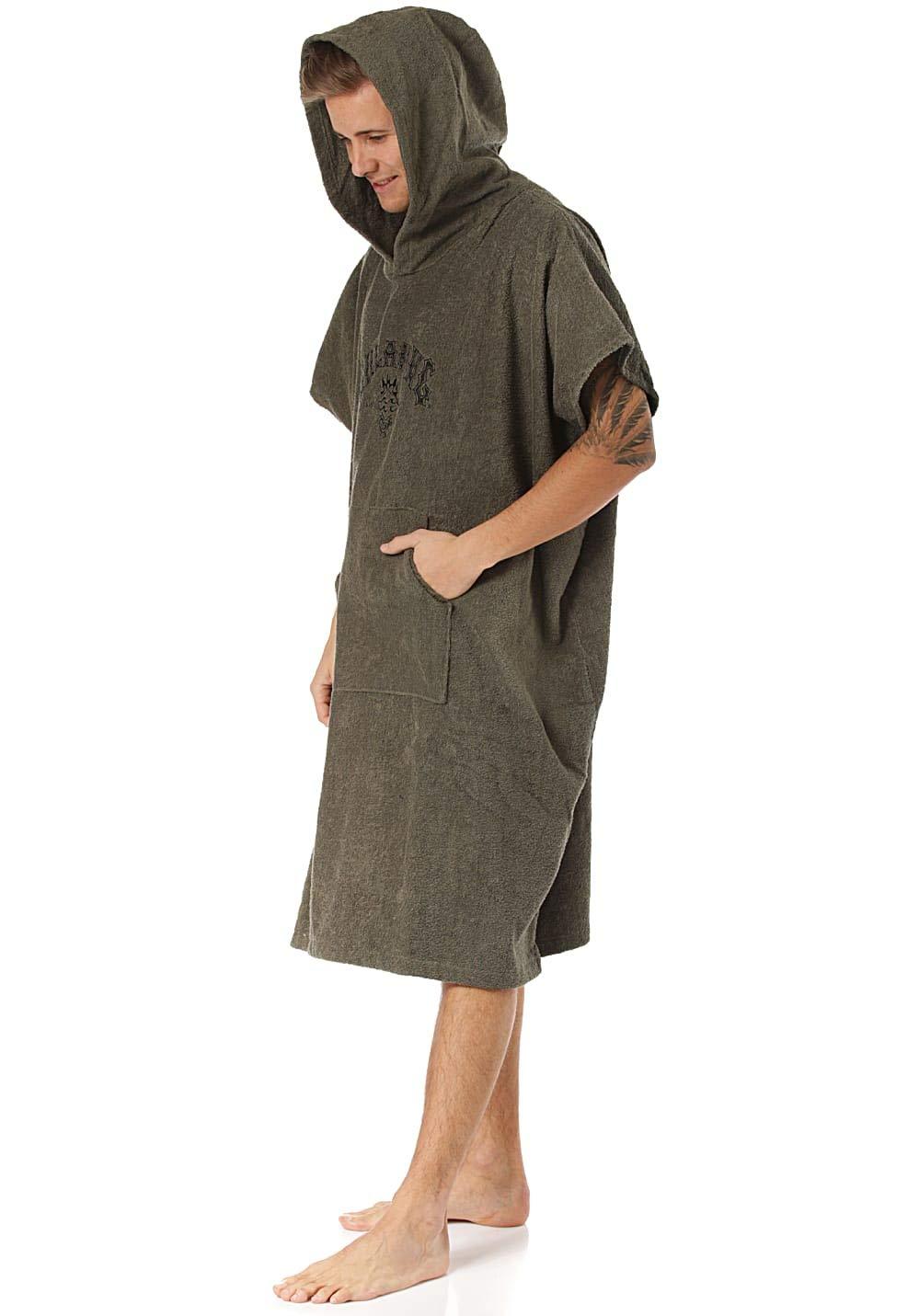 BILLABONG Mens Hooded Changing Robe//Poncho Black N4BR01