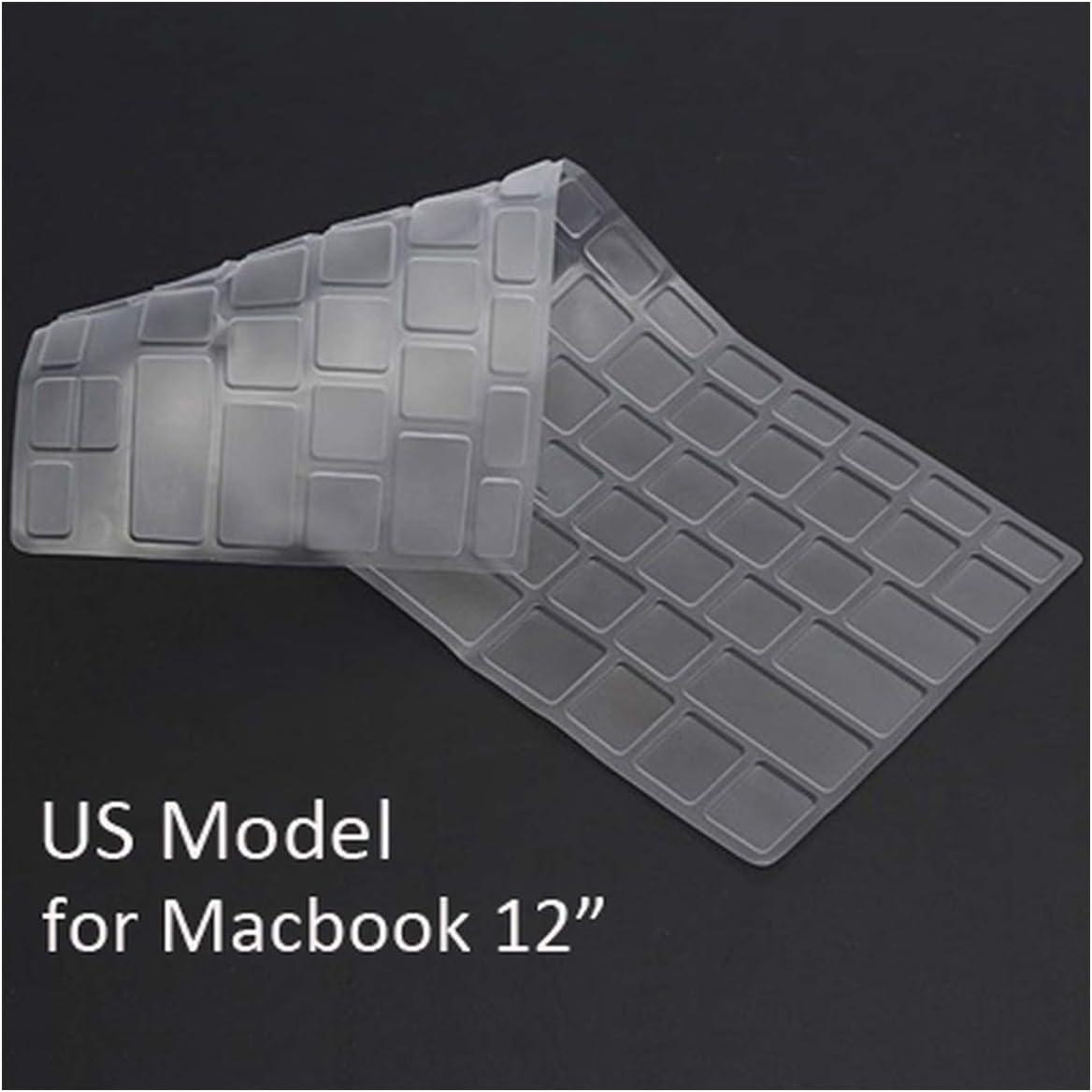 Waterproof Keyboard Cover Skin for MacBook Protector UK EU US Version TPU Transparent 11 12 13 15 17 Inch Skin for Mac,US 11