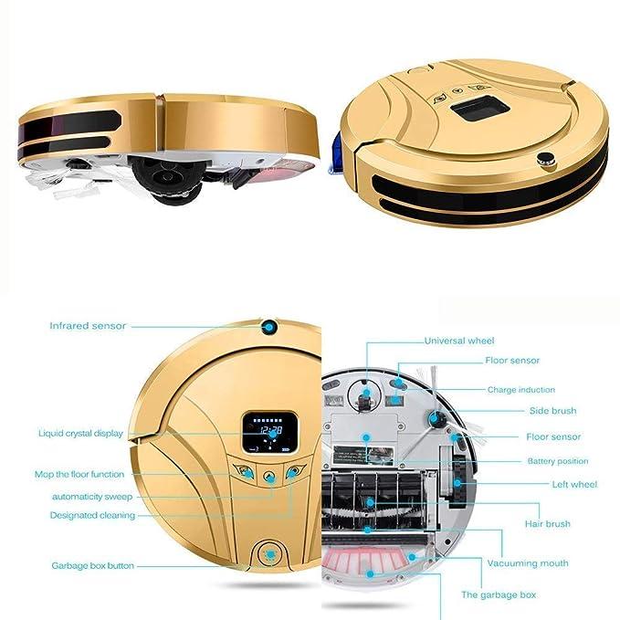 ZHDSDJ Robot aspiradoras, 3 Modos de Limpieza, Sensor infrarrojo ...