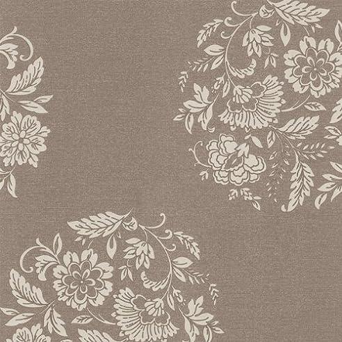 Rasch Textil Vlies Tapete Platinum Braun Beige Glänzend Floral