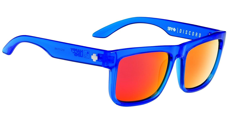 TALLA Talla única. Spy Gafas de Sol Discord Azul Trans Navy- Happy Grey Green W/Orange Spectra Talla:Talla única