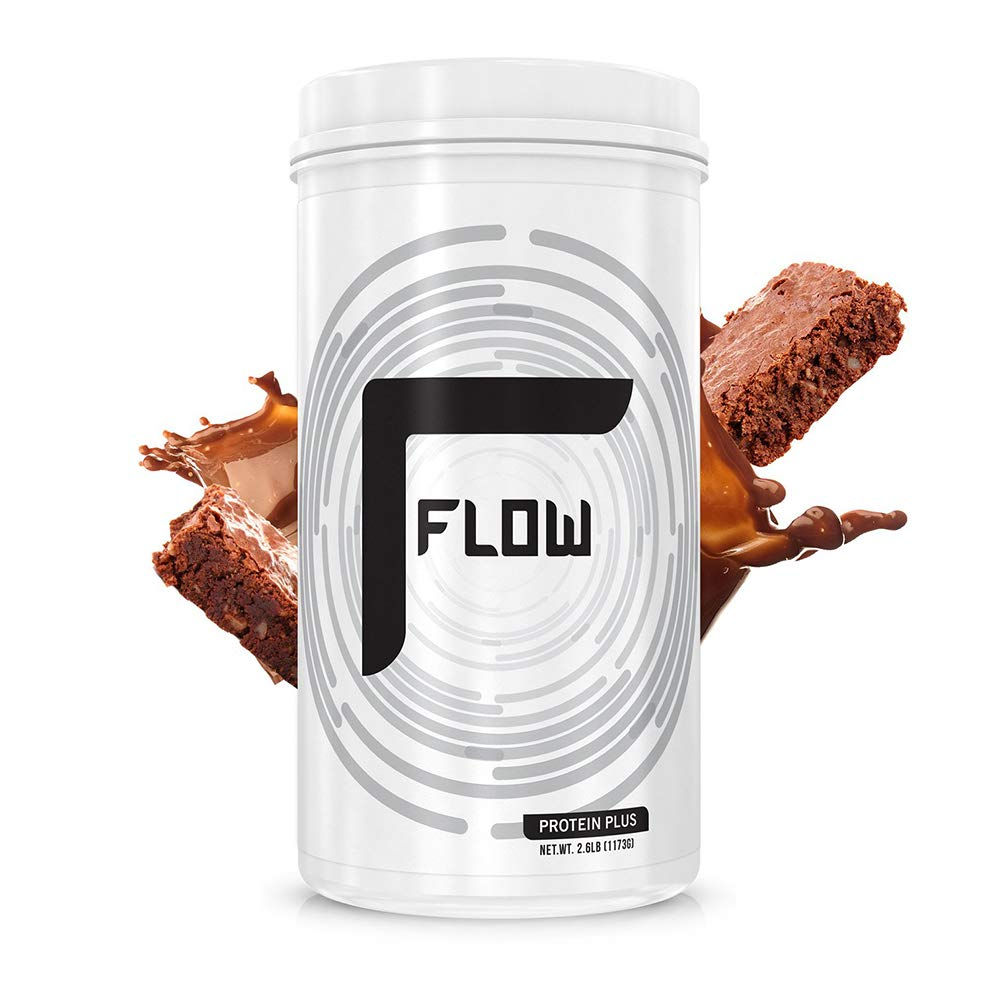 Flow Supplements by Zachary Levi | Protein Plus Plant Based Pumpkin Watermelon Seed Pea Protein AMINO9 | Zero Soy Gluten Dairy Sugar | Natural Flavors, 2.6 Pound (Brownie Batter)