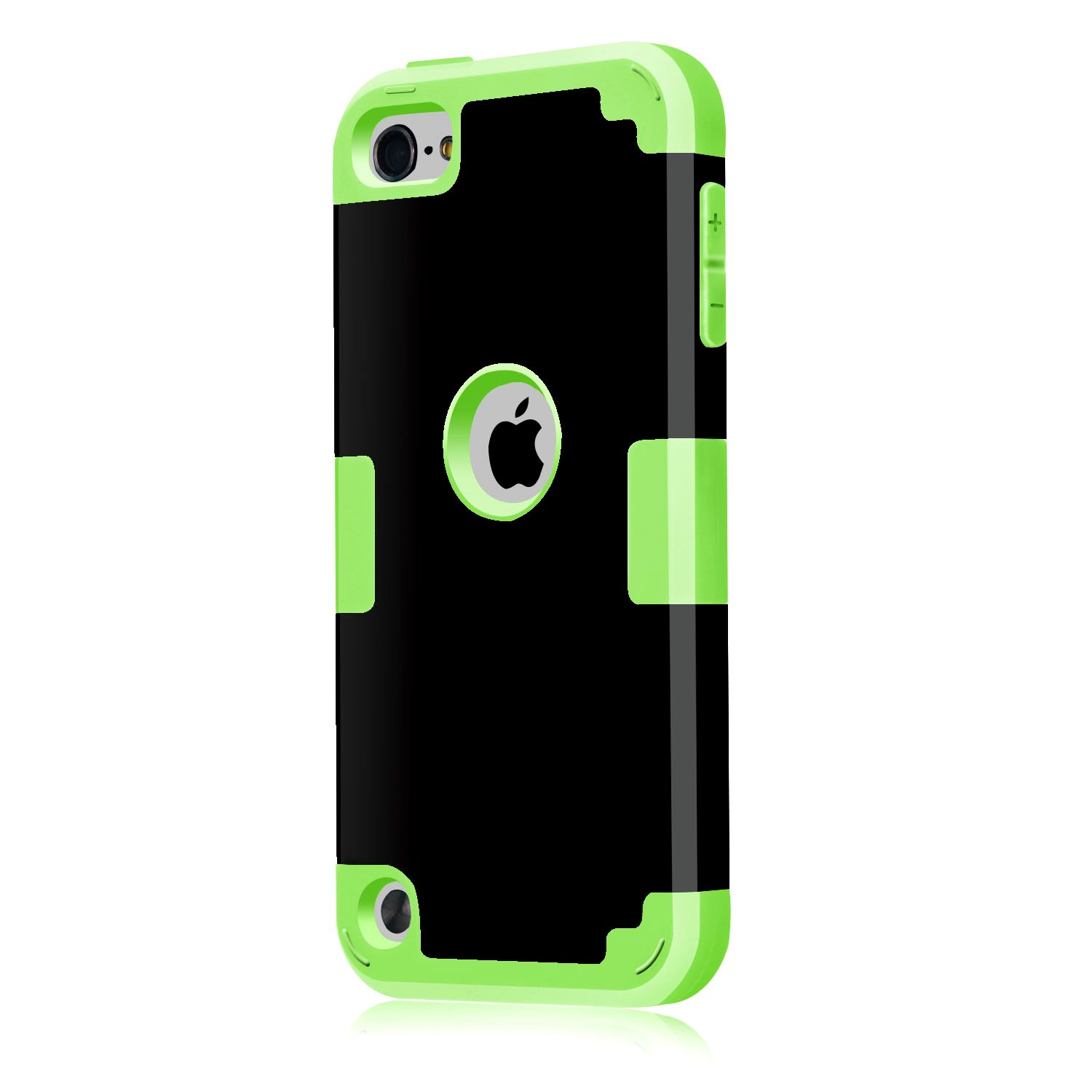 Case for iPod Touch 5 6 7 Case CheerShare 3 in 1 Hard PC Case Silicone Shockproof Heavy Duty High Impact Armor Case Cover Protective Case for Apple iPod Touch 2019 New White+Blue
