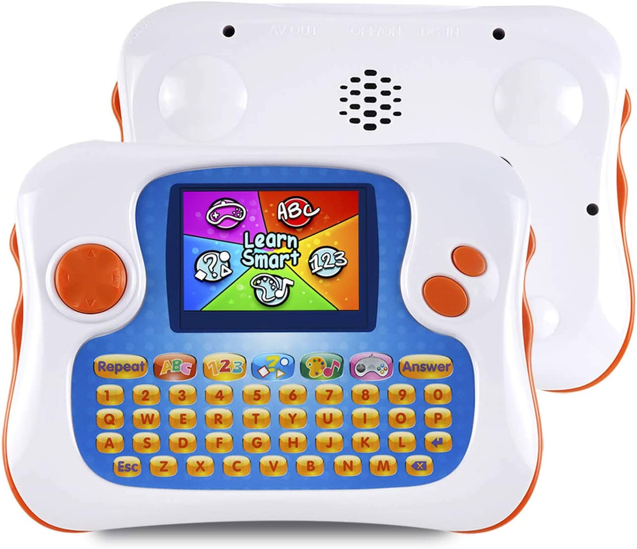 Kids Tablet,English-Spanish Bilingual Learning Tablet for Kids, Educational Toy with 104 Learning Apps/Games,Support TV Out Function,Great Choice for Preschool Toddlers Babies Early Education