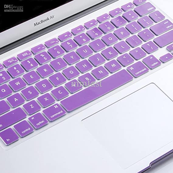 Pashay Keyboard Skin for Apple Macbook Air/Pro/Retina 13.3 quot;  amp; 15.4 quot;  Purple Keyboards