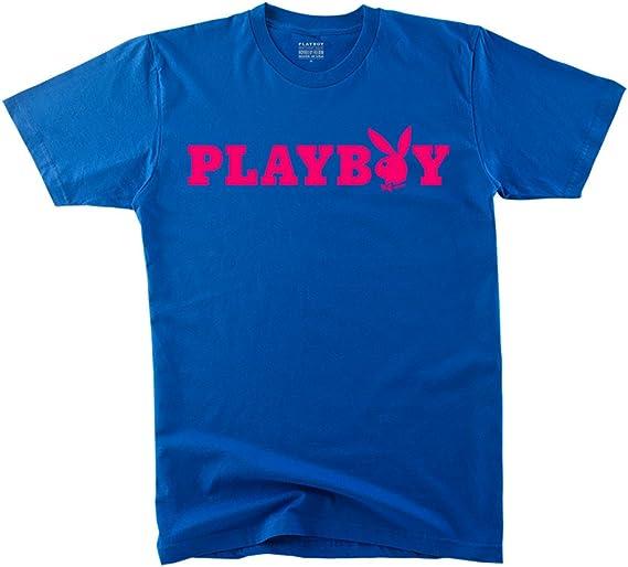 Playboy - Camiseta de Manga Corta para Hombre, diseño de Conejo, Talla XXXL, Color Azul y Rosa: Amazon.es: Libros