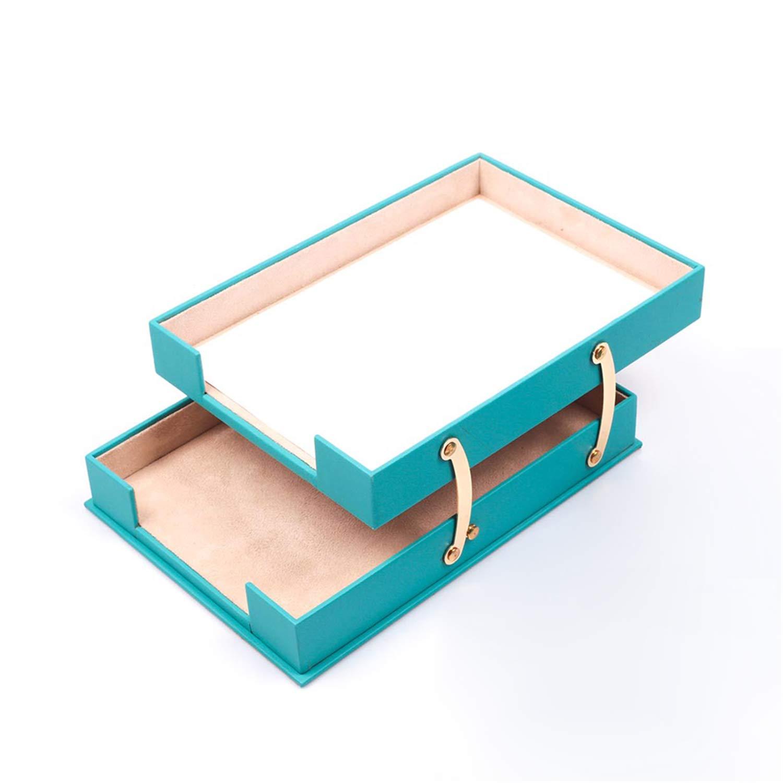 Colorazione:Rosso Set da scrivania Calme 10 pezzi con doppio portadocumenti con targhetta personale in 10 colori a scelta tampone da scrivania in similpelle 49cm x 34cm
