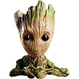 Imported Baby Groot Tree Man Guardians of The Galaxy Avengers Action Figures Stationery Organizer Pen Stand or Flowerpot with Drainage Hole (Heart)