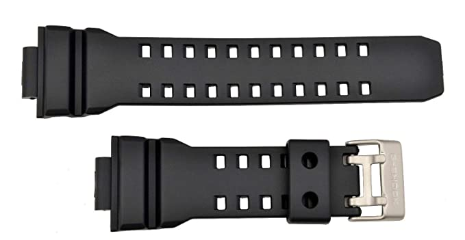3be9a3ba83a Image Unavailable. Image not available for. Color  Casio Watch Band GD-350  Black Resin Strap for G-shock ...