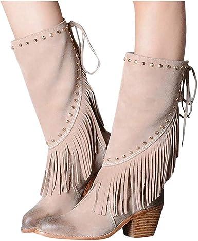 DNOQN Stiefel Stiefeletten Boots Schuhe Schtiefel Damen