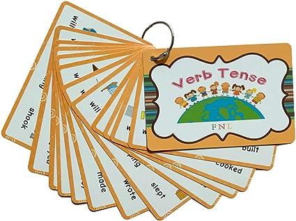 Lingo Flashcards Cartes Flash Mots Et Verbes D Action Etanche Portable Image De Vocabulaire Anglais Flash Card Jouets Educatifs Pour Les Tout Petits Enfants Adultes Amazon Fr Cuisine Maison