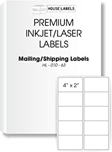 "400 Sheets; 4,000 Labels, 10-UP, Shipping Labels (4.0"" x 2.0"") - BPA Free!"