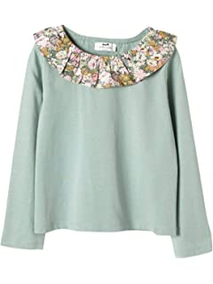 13f8b29b444bd Cyrillus T-Shirt col Pierrot Fille 10A Ecru  Amazon.fr  Vêtements et ...