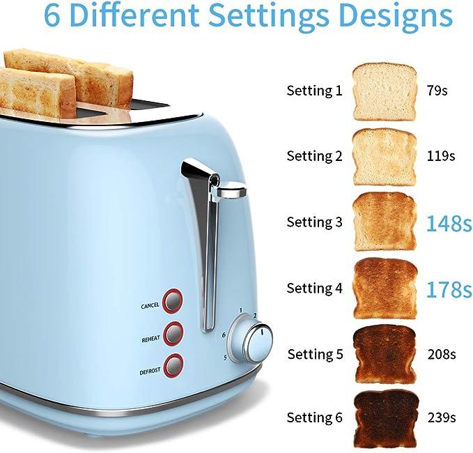 900W per 2 FETTE ampio slot pane acciaio inox ad alta portanza casa cucina