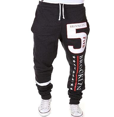 Los hombres pantalones de chándal Número 5 Brooklyn sudor Deporte Pantalones aptitud Sweatpants pantalones de entrenamiento