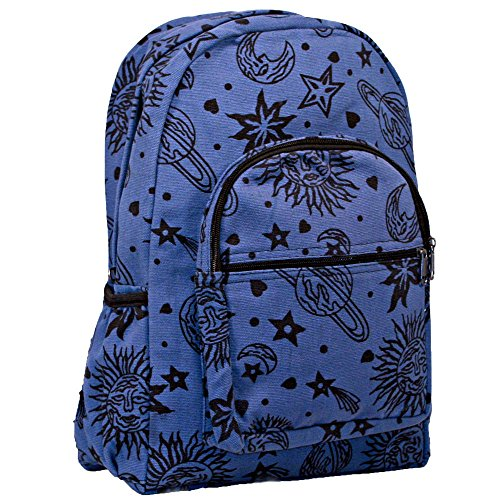 Sun Moon Planets and Stars Celestial Backpack (Blue)