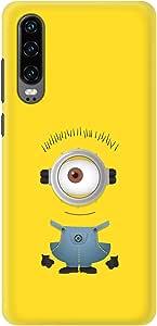 Stylizedd Huawei P30 Slim Snap Basic Case Cover Matte Finish - Minion 4