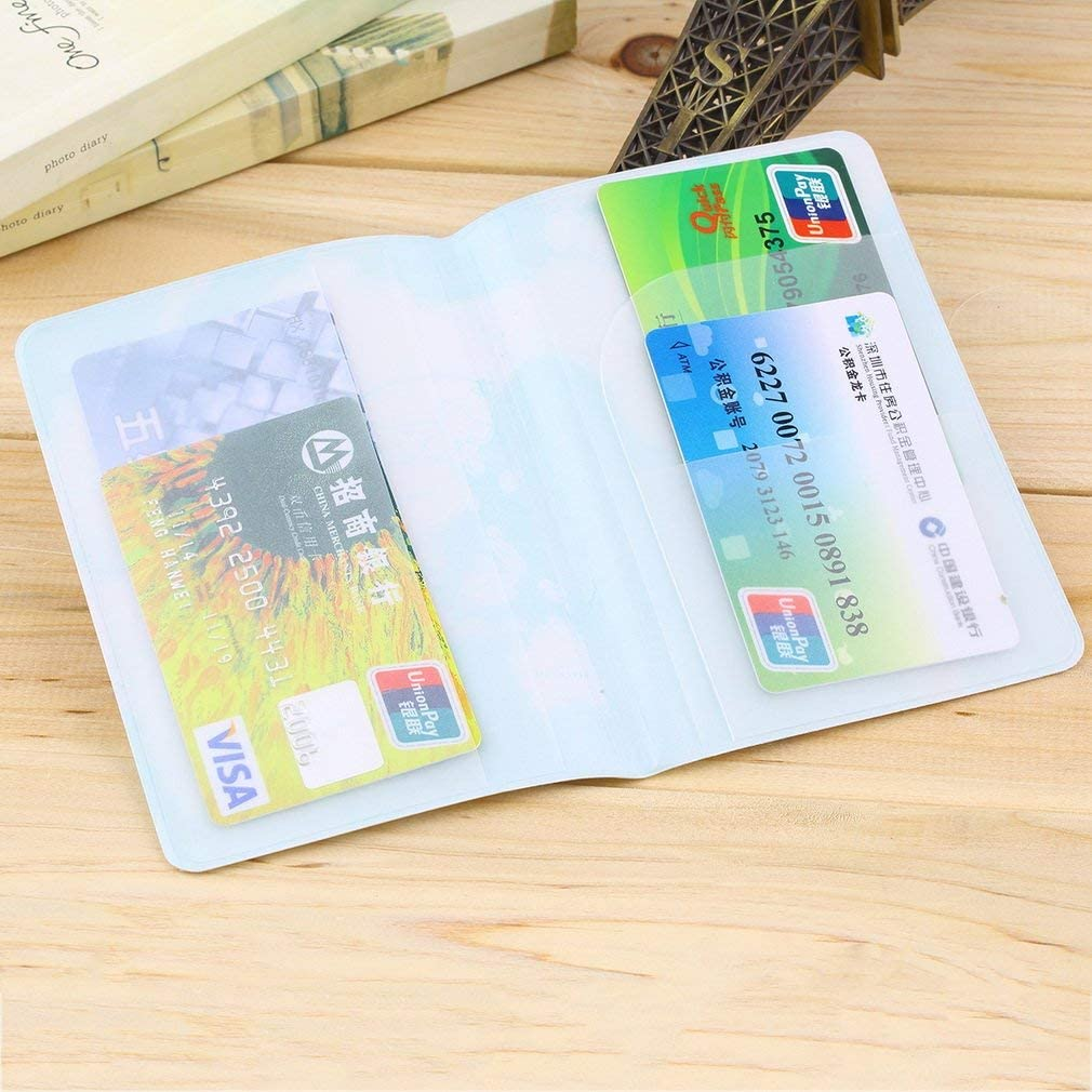 New Travel Passport Holder Protect Cover Case Card Ticket Container Pouch Beige