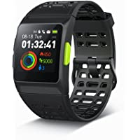 Iwownfit Smart Watch, P1 fitness Watch: activity Tracker con cardiofrequenzimetro, HRV analisi, contapassi, sleep, Steps Tracker, con modalità multi-sports IP68 impermeabile Bluetooth GPS running Watch