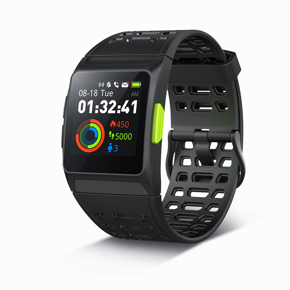 GPS Running Watch,P1 Smart Watch HRV Analysis Heart Rate/Sleeping/Fatigue Monitor IP67 Waterproof Fitness Tracker with Multi-Sports Mode Message Notifications Color Touch Screen For Android and IOS by IWF