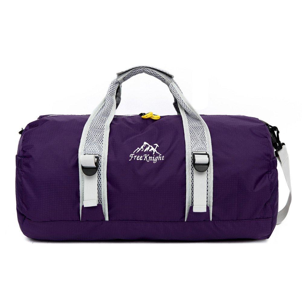 Sammid Foldable Weekender Bag,Travel Shoulder Handbag,Women Weekender Bag Carry On Travel Duffel Bag - Purple
