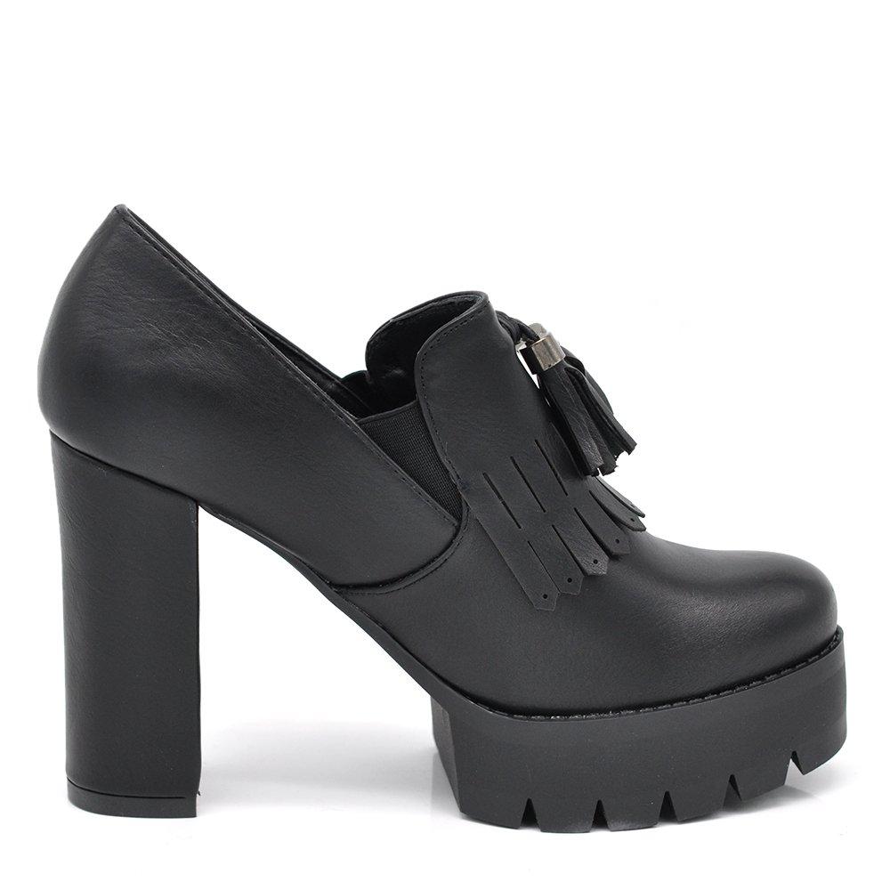 Senza marca//Generico If Fashion Scarpe da Donna Tacco Plateau Francesine Frange//Zip Carrarmato Doppio Fondo 137