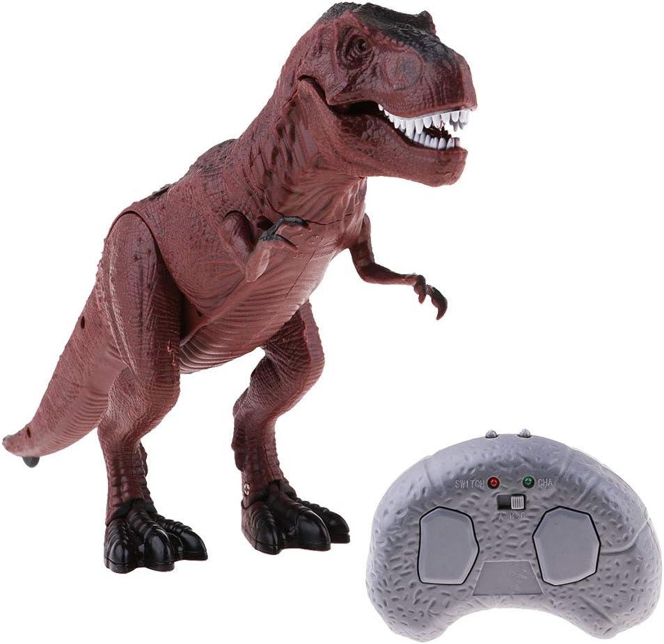 Sharplace Juguete de Dinosaurio Regalo para Niño, Control Remoto, con Luces y Sonidos - T-Rex
