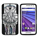 TurtleArmor | Motorola X Play Case | Motorola Droid MAXX 2 Case [Gel Max] Hybrid Dual Layer Hard Shell Kickstand Silicone Case - Dreamcatcher Feathers