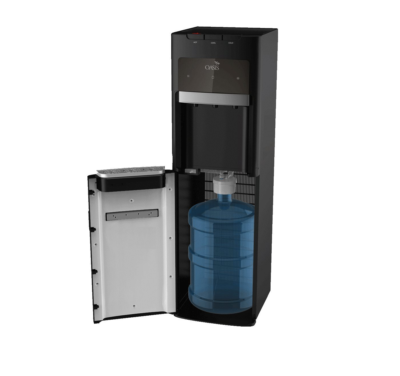 Oasis Bottle Water Dispenser, Tri-Temp (Hot, Cold, Room-Temp) (Bottom Load Bottle Water Cooler or Bottleless Direct Plumb option).