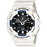 Casio G-Shock Analogue/Digital Mens White XL-Series Watch GA100B-7A GA-100B-7ADR