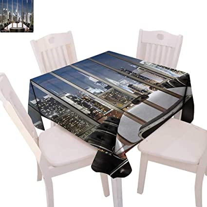 cobeDecor Modern Dinning Tabletop DecorBusiness Office Conference Room Table Chairs City View at Dusk Realistic Photo  sc 1 st  Amazon.com & Amazon.com: cobeDecor Modern Dinning Tabletop DecorBusiness Office ...