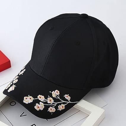 Soldmore7 - Gorra de béisbol para Mujer y niña, diseño de Flores, Bordado de