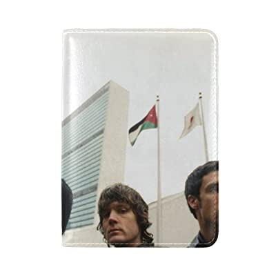 Inc Band Flags Faces Look Leather Passport Holder Cover Case Travel One Pocket