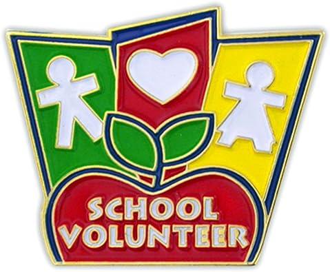 PinMart School Volunteer Enamel Lapel Pin