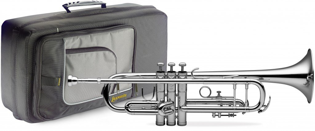 Levante LV-TR4201 Bb Trumpet with Soft Case - Silver Plated by Levante