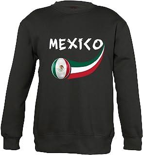 Supportershop 8Sweatshirt Messico 8Unisex Bambino, Nero, Fr: L (Taglia Produttore: 8Anni)