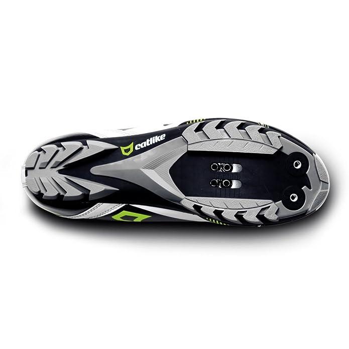 Catlike Scheme MTB - Zapatillas de ciclismo unisex, color blanco/negro/flúor mate, talla 42: Amazon.es: Zapatos y complementos