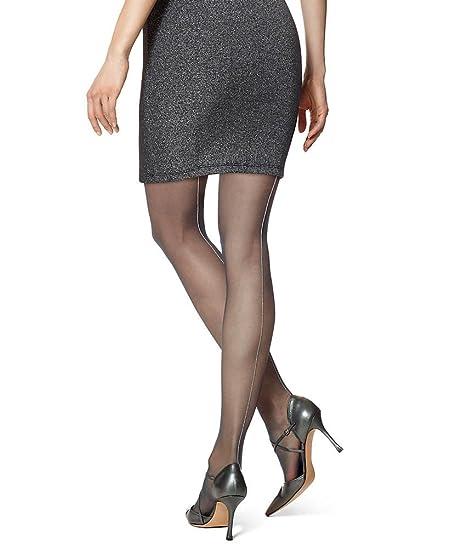 0505f485fd0b6 Hue Metallic Backseam Tights (18318) at Amazon Women's Clothing store: