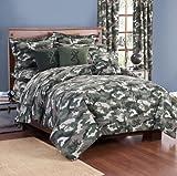 Buckmark Camo Green Twin Bed in a Bag Comforter Set